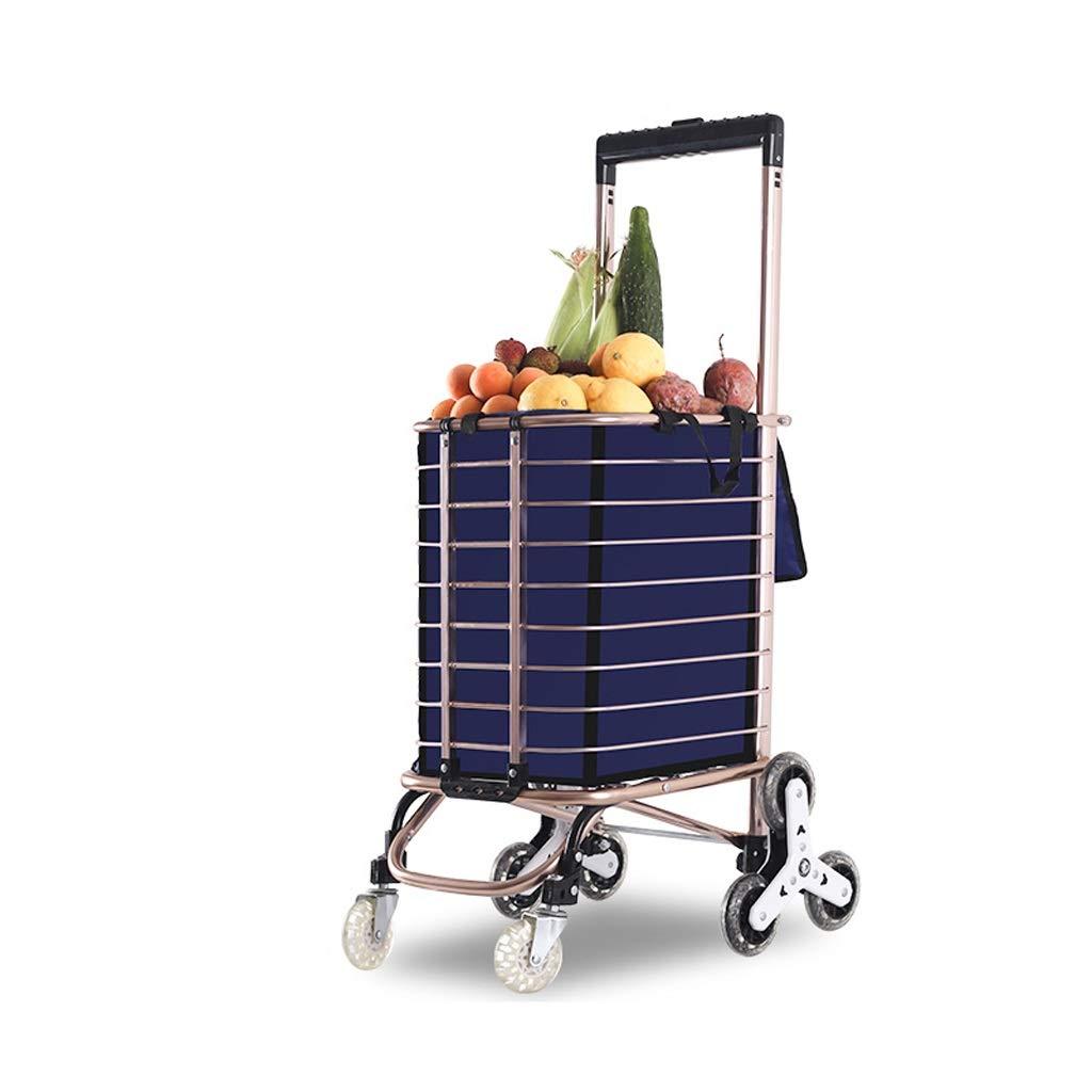 Portable Folding Shopping Cart Creative Shopping Dish Small Cart Home Light Shopping Trolley (Color : A)