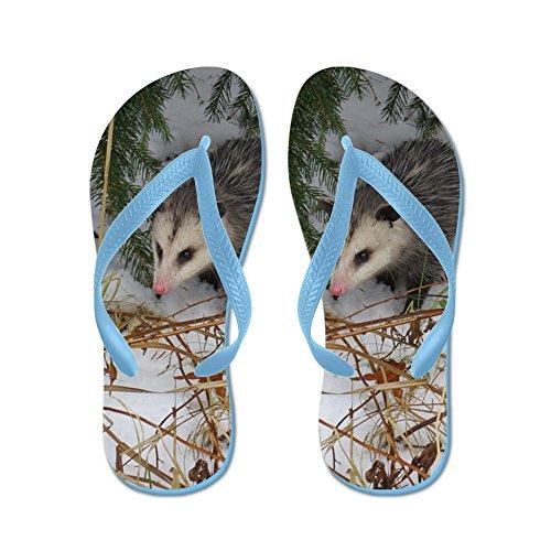 Cafepress Snow Possum - Infradito, Sandali Infradito Divertenti, Sandali Da Spiaggia Blu Caraibico