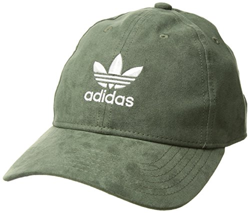 adidas Women's Originals Relaxed Plus Strapback  Cap, Green Suede/White, One Size