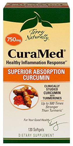Terry Naturally CuraMed  More Powerful Than Turmeric 750 mg 120 Softgels by Terry Naturally