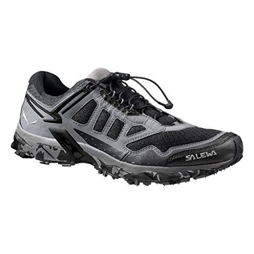 Salewa Men's Ultra Train Mountain Training Shoe   Trail Running, Speed Hiking, Training   Breathable Mesh Upper, Michelin Rubber Outsole, Excellent Traction and Stability Asphalt/Black