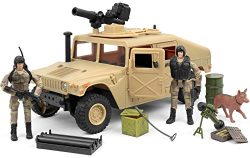 Click N' Play Click N' Play Military Humvee Jeep Vehicle 20 Piece Play Set with Accessories. price tips cheap