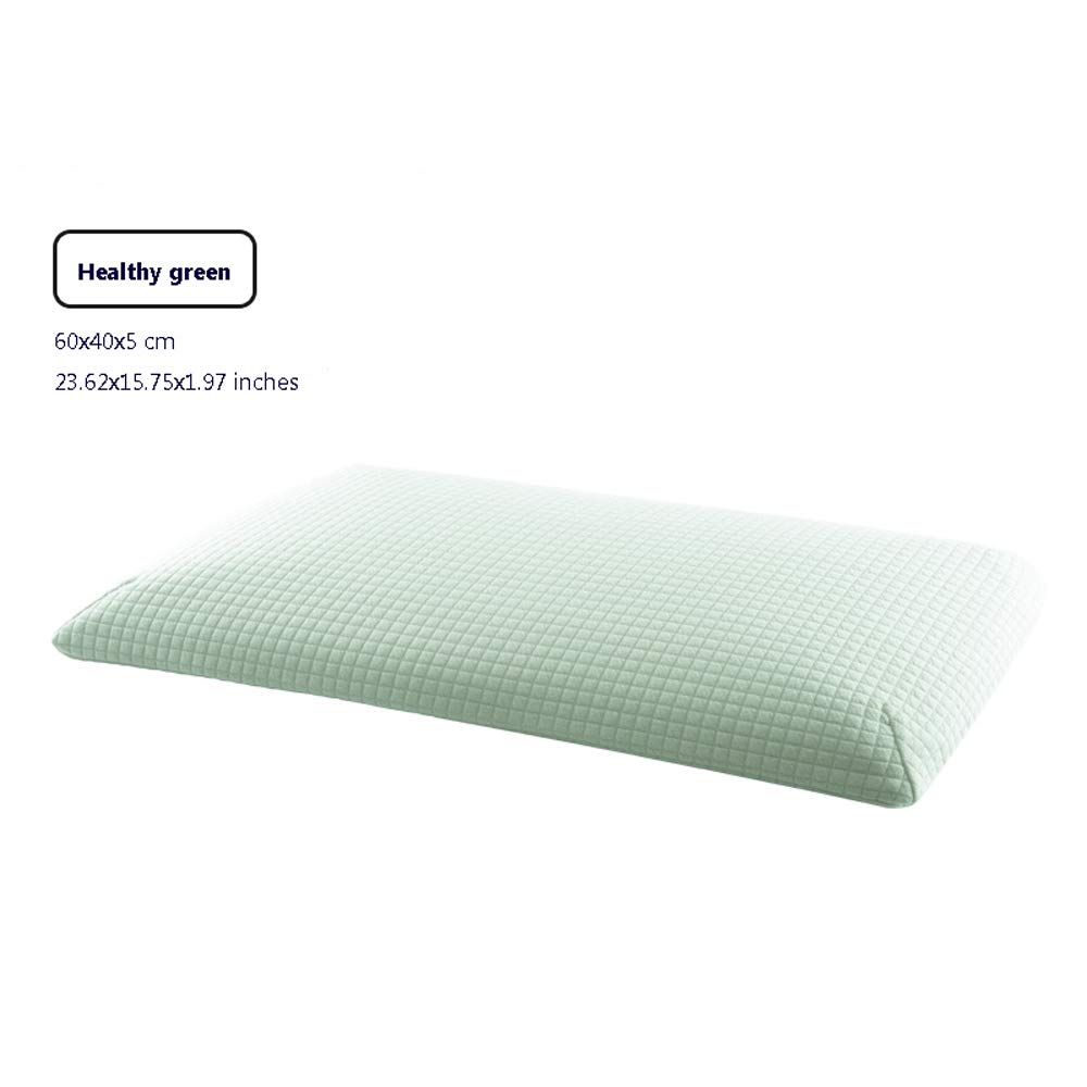 Nosterappou Designed for Low-Occupancy People with Ergonomic Design to Help Sleep, fit Human Cervical Vertebra Curvature Thin Pillow Cervical Neck Pillow Student Pillow (Color : Green)