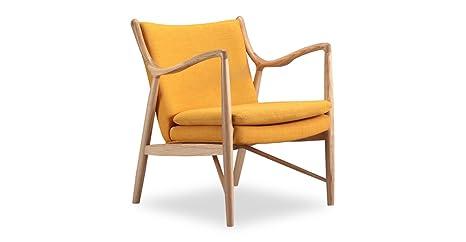 Terrific Kardiel Copenhagen 45 Mid Century Modern Arm Chair Citrine Twill Natural Unemploymentrelief Wooden Chair Designs For Living Room Unemploymentrelieforg