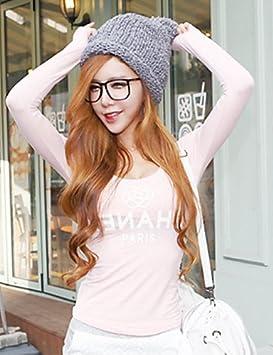 jjh Mujer Camiseta de algodón manga larga pink-l Talla:pink-l ...