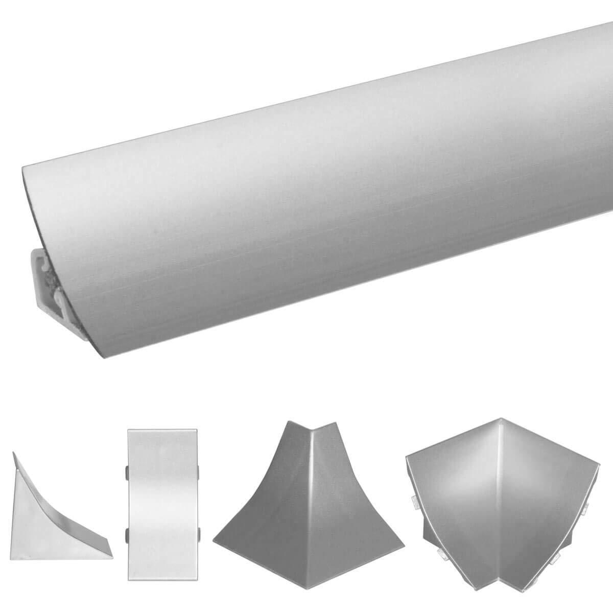 HOLZBRINK Copete de Encimera de Aluminio Listón de Acabado Aluminio Copete de encimeras de cocina 23x23 mm 150 cm: Amazon.es: Bricolaje y herramientas