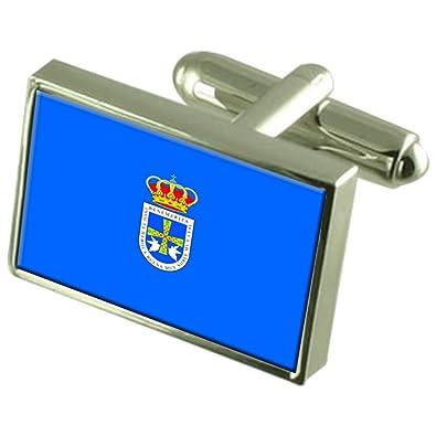 Select Gifts Oviedo Ciudad Bandera España Gemelos: Amazon.es ...
