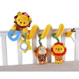Yellow Lion Wrap Around Crib infant seat Spiral activity Toy