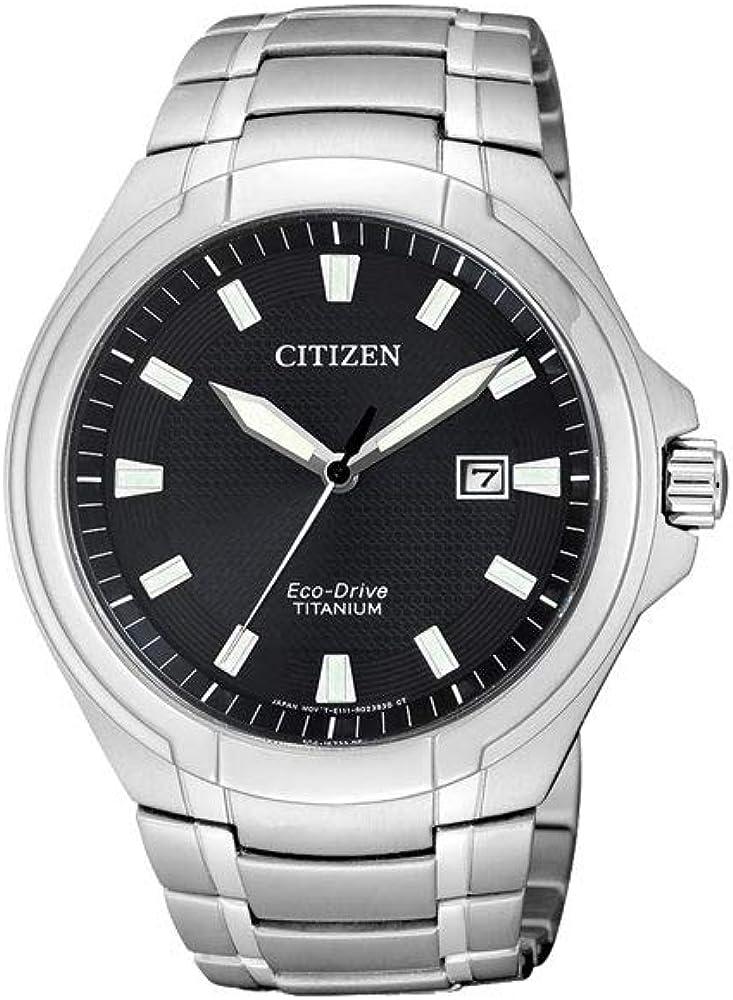Reloj de Cuarzo Citizen Super Titanium, Eco Drive, 42,5 mm, Negro, BM7430-89E