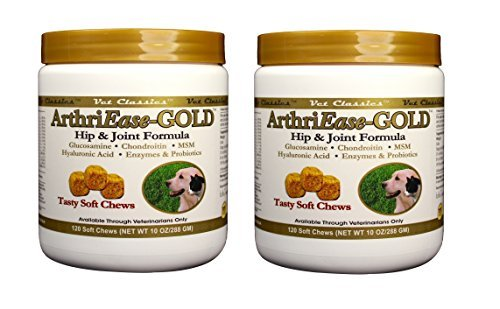 2 Pack! Vet Classics ArthriEase-Gold Soft Chews (240 chews total)