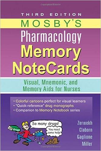 Kostenlose Computerbücher als PDF zum Download Mosby's Pharmacology Memory NoteCards: Visual, Mnemonic, and Memory Aids for Nurses, 3e PDF ePub