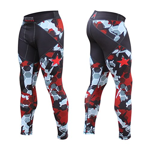 Wrestling Compression Shorts - Anthem Athletics - 10+ Styles - HELO-X Grappling Spats Compression Pants Tights - BJJ, MMA, Muay Thai - Red Camo Hex - Small