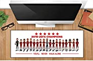 2019 UEFA Champions Liverpool FC Mousepads Merchandise Football Club Mouse Pads for Mens Kids 80 30
