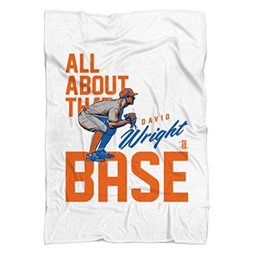 "David Wright Base O New York Fleece Blanket 50"" x 60"" White"