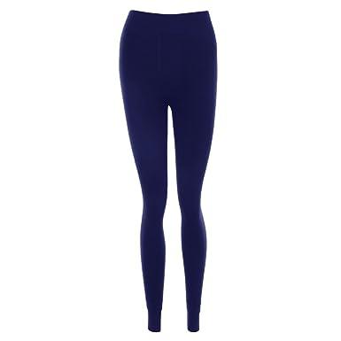Dihope Femme Automne Hiver Longue Pantalon Collant Legging Épais Slim Fit Chaud  Pants 54d740efdbd