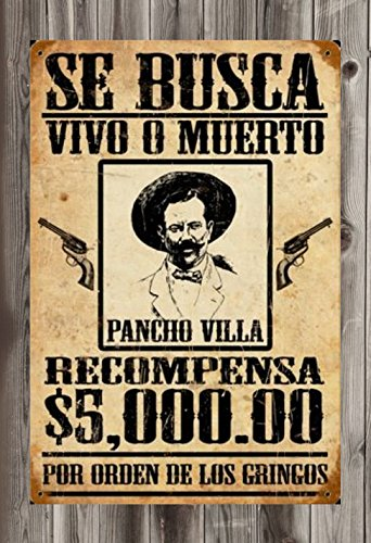 Wanted Poster Pancho Villa Dead Or Alive 12  X 18  Old West Posters
