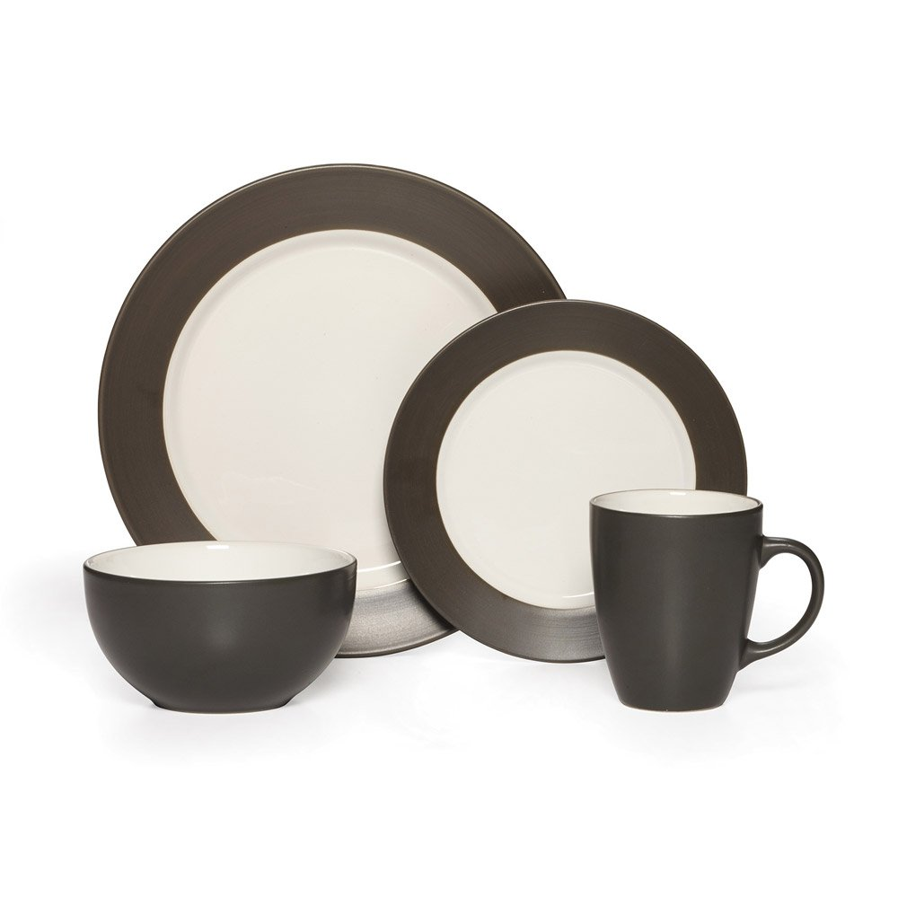 Amazon.com Pfaltzgraff Harmony Charcoal 16-Piece Stoneware Dinnerware Set Service for 4 Kitchen u0026 Dining  sc 1 st  Amazon.com & Amazon.com: Pfaltzgraff Harmony Charcoal 16-Piece Stoneware ...