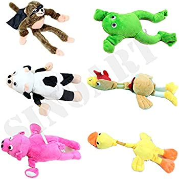 Marvelous SinoArt 6pcs Set Slingshot Flingshot Animal Toy For Kids Screaming Flying  Sock Plush Animals Monkey Chicken Pig Cow Duck Frog