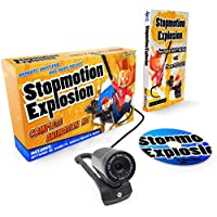 Stopmotion Explosion: Complete HD Stop Motion Animation Kit   Stop Motion Animation Software with Full HD 1080P Camera, Animation Software & Book (Windows & OS X)
