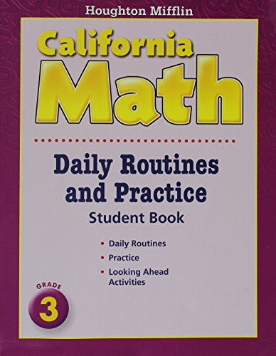 Houghton Mifflin Mathmatics California: Daily Routine And Practice Book Level 3