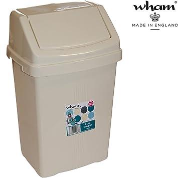 22x19 cm robust 8 Liter M/ülleimer mit Schwingdeckel grau: Camping Bad WC Abfalleimer Wohnwagen Windeleimer Kosmetikeimer