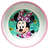 Zak Designs MMND-0361-B Minnie Boutique Mel Bowl W-Rim, Multicolor