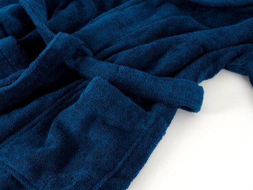 Tejido de rizo de albornoz con cuello en 6 de coloures y 5 tamaños para hombre y mujer, algodón, burdeos, talla XXL azul cobalto