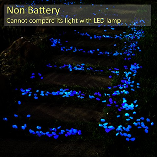Opps glow in the dark garden pebbles for walkways and decor fixtures and beyond for Glow in the dark garden pebbles