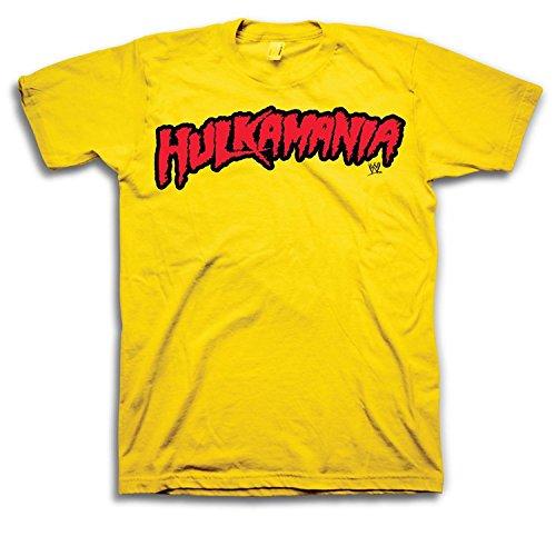 WWE Hulk Hogan Hulkamania Adult T-Shirt (Adult XXX-Large) Yellow
