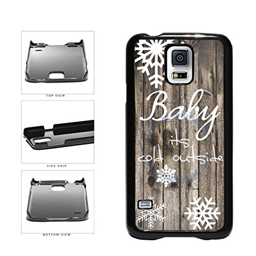 (BleuReign(TM) Baby Its Cold Outside Christmas Snowflake Plastic Phone Case Back Cover For Samsung Galaxy S5 I9600)