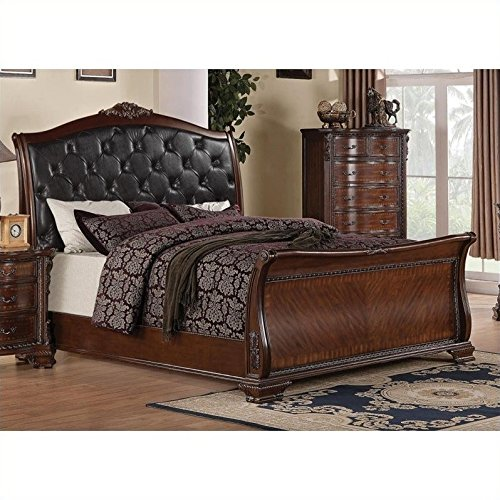 - Maddison California King Sleigh Bed w/ Upholstered Headboard