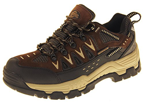 Mens Northwest Leather Walking Hiking Waterproof Ankle Boots Trainers Shoes WZfBkeIm