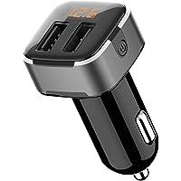 wooshop USB Autolader Quick Charge 2 Poorten Sigarettenaansteker USB Telefoon Oplader Voor In De Auto Compatibel met…
