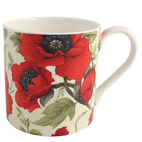 (Poppies Gift Fine Bone China Mug)
