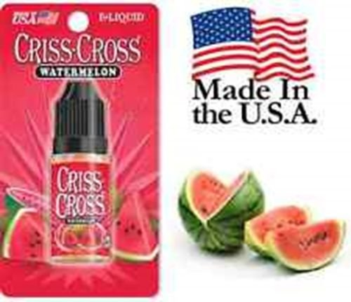 Criss Cross Vape Vapor USA 10ML Watermelon 0 mg No Nicotine 2 bottles