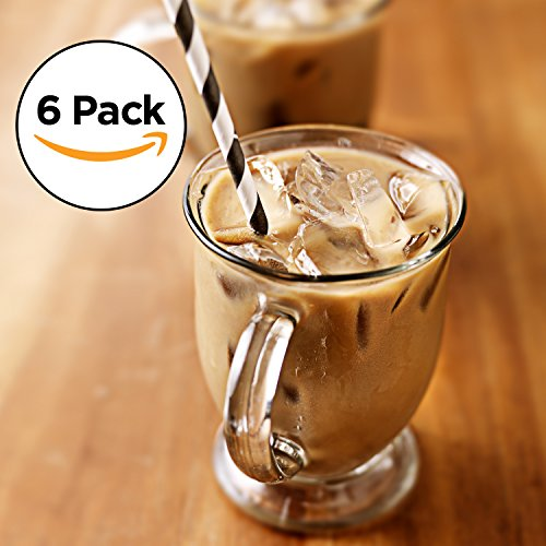 16 oz glass coffee mug set - 7