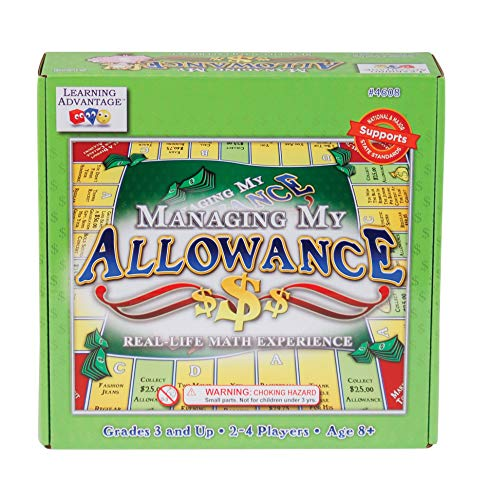 (Learning Advantage Managing My Allowance - Allowance Game for Kids - Teach Money, Making Change, Currency and Saving Skills)