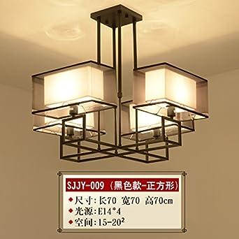 Moderne Neue Chinesische Kronleuchter Wohnzimmerlampe Chinesischen Stil  Führte Kreativ Stoff Eisen Antik Schlafzimmer Esszimmer Kronleuchter