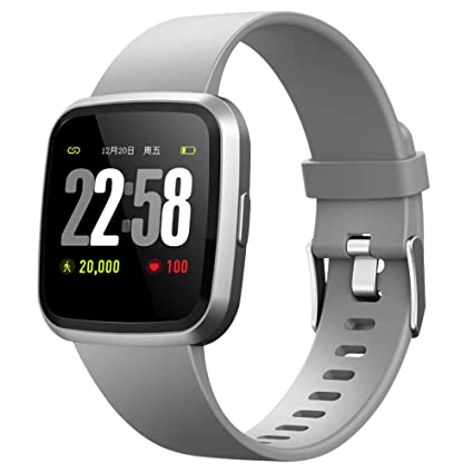 2019 version H4 Fitness Health 2in1 Smart Watch for Men Women Smartwatch with All-day Heart Rate Blood Pressure Monitor Sports Running Bracelet ...