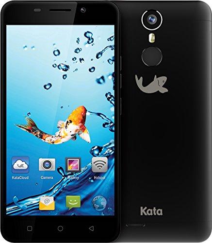 Kata i5 - 5-inch Super HD IPS Octa Core International Unlocked Smartphone Android 6.0 - Super Slim Super HD 1.3 GHz Dual Sim Card 4G 13MP Camera (Black) by Kata