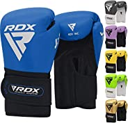 RDX Kids Boxing Gloves for Training, Muay Thai – Maya Hide Leather Junior 6oz Mitts for Kickboxing, Sparring,