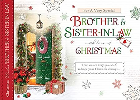 words n wishes brother sister in law christmas card open