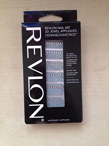 Revlon Nail Art 3D Jewel Appliques Denim&Diamonds