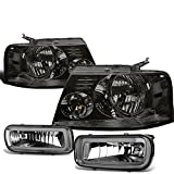07 f150 smoked headlights - Ford F150 Pair of Smoked Lens Clear Corner Headlights + Smoked Lens Fog Lights