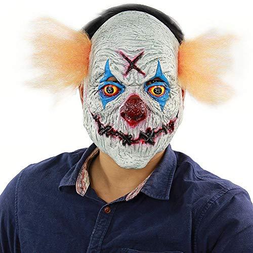 Timall Scary Clown Mask Novelty Latex Horror Masks Frightful Head Mask Halloween Costumn Party -