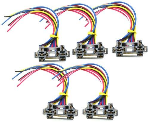 Absolute USA 12 VDC Dual Relay Interlocking Socket, 10 Set