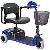 CTM - HS-125 - Lightweight Travel Scooter - 3-Wheel - Blue