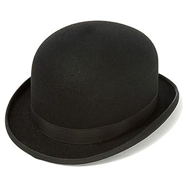 d08daf42 Express Hats Quality Stiff Wool Felt Bowler Hat (Satin Lined) (Small - 55cm