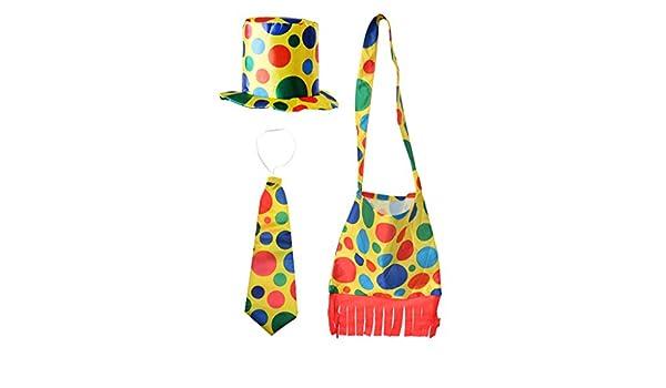 Disfraz de payaso de lunares, monkeyjack accesorios sombrero + ...