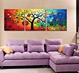 [ Wooden Framed or Not, Diy Oil Painting by Numbers 3 Pieces Pack, Paint by Number Kits - Pachira Tree 16163P inches - PBN Kit for Adults Girls Kids Christmas Gifts